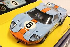 SCALEXTRIC C2404A GULF FORD GT40 LE MANS LTD. ED. NEW 1/32 SLOT CAR W/DISPLAY