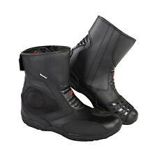 Men XTRON Motorcycle Short Black Ankle Cruiser Armoured Leather Motorbike Boots