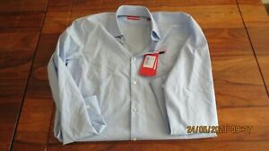Hugo Boss shirt pastel blue size 15 inch 38 slim fit formal long sleeve with tag