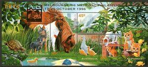 Australia 1996 Pets Mini Sheet Overprinted Melbourne 96 Mint Unhinged