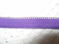 5 METRES X PURPLE SOFT BACKED ELASTIC-10MM WIDE-TRIMMINGS