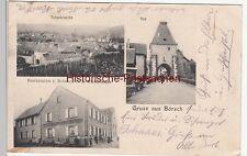 (110662) AK Gruss aus Börsch, Bœrsch, Total, Tor, Restaurant Zum Rebstock, 1904
