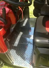 2009-2014 POLARIS RANGER CREW FULL SIZE BLK DIAMOND PLATE FLOOR BOARDS AND 6X6