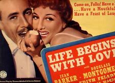 Title Card 1937 LIFE BEGINS WITH LOVE Jean Parker CU