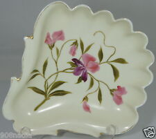 VINTAGE PLATE/DISH SCALLOPED EDGES SHELL SHAPED PINK IRIS FLOWERS