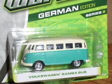 Greenlight MOTOR WORLD Series 8 Volkswagen Samba Bus  aqua  & white