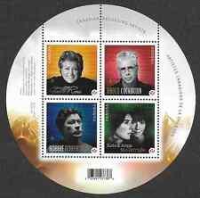 Canada Stamps - Souvenir sheet of 4 - Canadian Recording Artists #2482b - MNH