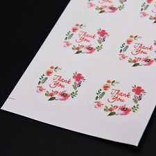 100pcs 3.5cm Flower Design Stickers Paper Labels Thank You Seals For Gifts BestH