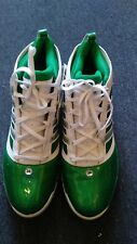 ADIDAS Rapid Bounce Pro Basketball Shoes Shiny Green / White Size 18 US