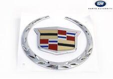07-13 Cadillac Escalade Front Grille Emblem 22985036 2pc W/O Platinum Pkg OEM GM