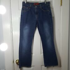 LEVI'S Sz 10 Nouveau Boot Cut Low Rise 515 Denim Blue Jeans Pants Stretch Womens