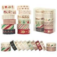 12Rollen/Set Dekor Papier Klebebänder Klebeband Weihnachten Karikatur Washi-Tape