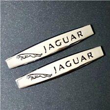 2 x JAGUAR Chrome Metal Car Trunk Side Fenders Door Emblem Badge Decal Sticker