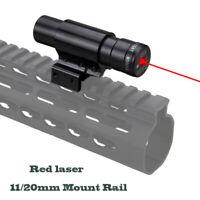 Pistola vista haz láser punto rojo 650nm Rifle Lazer Beam Sight fit 11/20mm Rail