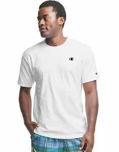 Champion Mens Classic Contrast Stitch T-Shirt Short Sleeve C Logo Ring Spun Soft
