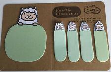 Mignon vert Animal Sticker Signet Pense-bêtes Point Marqueur Mémo Onglet Message