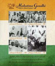 More details for antigua & barbuda famous people stamps 2019 mnh mahatma gandhi 150th 5v m/s