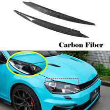 For VW GOLF 7 MK7 GTI 7R R LINE 14-18 Headlight Eyebrows Eyelids Carbon Fiber