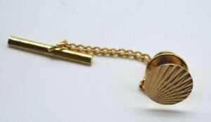 1960s Fob Chain LAPEL PIN / Tie Pin 9ct / 375 / 9k GOLD Front