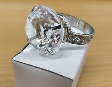Creative Giant Crystal Rhinestone Ring Napkin Ring ROUND DIAMOND EXCELLENT WHITE