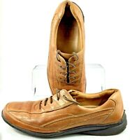 Johnston Murphy Oxfords Men's Size 11 M Brown Leather Lace Up Dress Shoes Brazil
