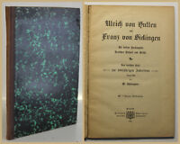 Schneegans Ulrich von Hutten & Franz von Sickingen 1887 Belletristik sf