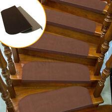 Large Morden Stair Mat Brown Household Carpet Stair PadTread Non-Slip Step  New