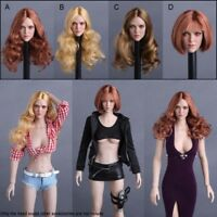 """1/6 Scale Variety Fashion Hairstyle Head Sculpt Model For 12"""" Female Figure Body"""