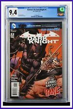 Batman The Dark Knight #7 CGC Graded 9.4 DC May 2012 White Pages Comic Book.