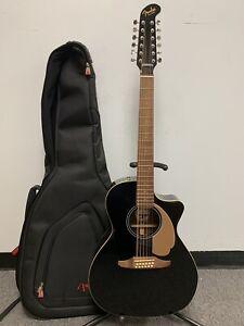 Fender Villager 12-String V3 Acoustic Electric Guitar - Black
