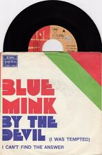 """BLUE MINK BY THE DEVIL (I WAS TEMPTED) RARE 1973 VINYL RECORD YUGOSLAVIA 7"""" PS"""
