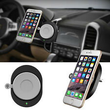 Black Wireless Qi Cell Phone Charger Air Vent Car Charging Mount Holder US Stock