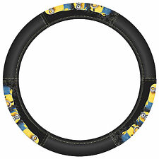 1PC Black Synthetic Leather Despicable Me Minion Made Steering Wheel Cover
