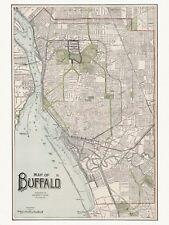 Old Vintage Decorative Map of Buffalo Cram ca. 1901