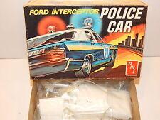Vintage AMT Ford Galaxie 500 Police Interceptor Car Stock Kit