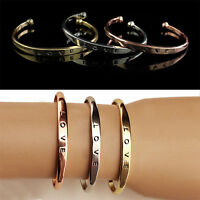 Fashion Women Gold Silver Punk Cuff Bracelet Bangle Chain Wristband Jewelry Gift