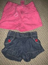 Gymboree Toddler Girl Shorts *Lot Of 2* 2T Pink & Jean Color Euc