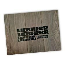 Liebherr Decal Sticker Digger Crane Fridge Car Van Laptop Toolbox Window