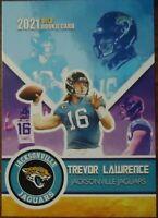 TREVOR LAWRENCE ROOKIE CARD VARIANT GOLD ROOKIE GEMS 2021 JACKSONVILLE JAGUARS!