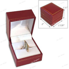 QUALITY LEATHERETTE RING BOX RED RING BOX JEWELRY GIFT BOX FAUX LEATHER GIFT BOX