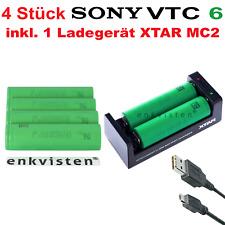 4x Sony konion us18650 vtc6 3,7v 3000mah 30a Batería Batería + xtar mc2 cargador