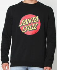 SANTA CRUZ - Big Dot Crew Black Jumper - NEW - LARGE ONLY