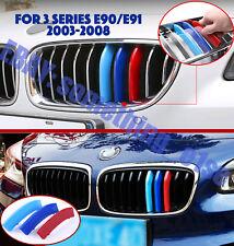 BMW 3 Series Saloon/raíces 03-08, Parrilla M Tri-color de la cubierta/Gorra/Clip/Correa, E90/91