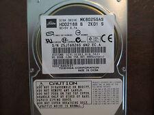 "Toshiba MK8025GAS HDD2188 B ZK01 S 610 A0/KA020U 80gb IDE 2.5"" Hard Drive"