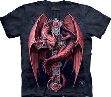 The Mountain Unisex Adult Gothic Guardian Dragon T Shirt Xxxx-large 1057356