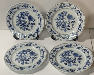 Set of 4 Blue Danube Salad/Luncheon Plates 8.75 Blue & White Onion Pattern Japan