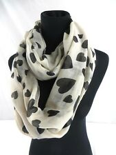US Seller- Womans fashion Fashion scarf heart love infinity scarf