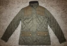 Barbour International IRIS QUILT Jacket in Olive - UK Size 10 [3890]