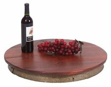 NEW CUSTOM MADE IN USA - AUTHENTIC WINE BARREL RING LAZY SUSAN LAISY DAISY