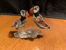 New ListingSwarovski Crystal Puffins Figurine w/Coa